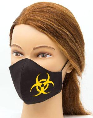Bavlnené rúško Biohazard