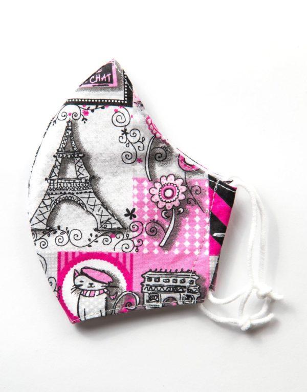 Bavlnené rúško Pink Paris 1