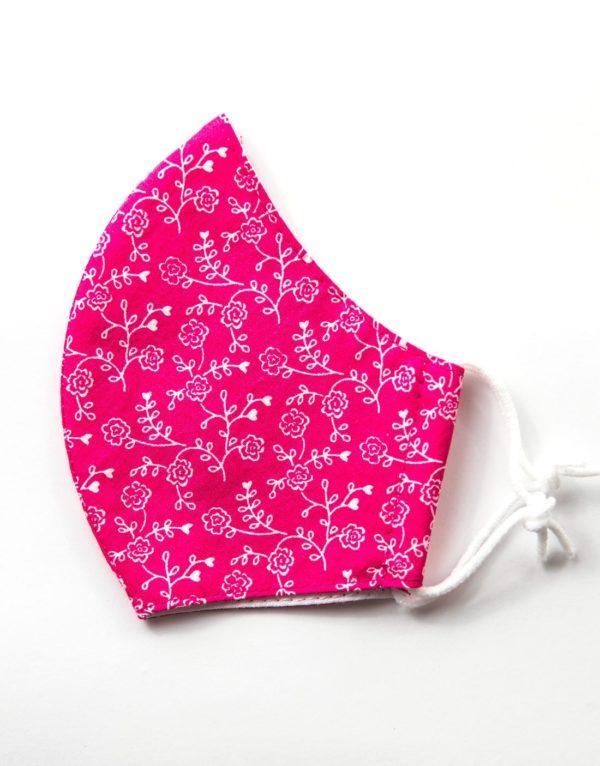 Bavlnené rúško Ružový floral 1