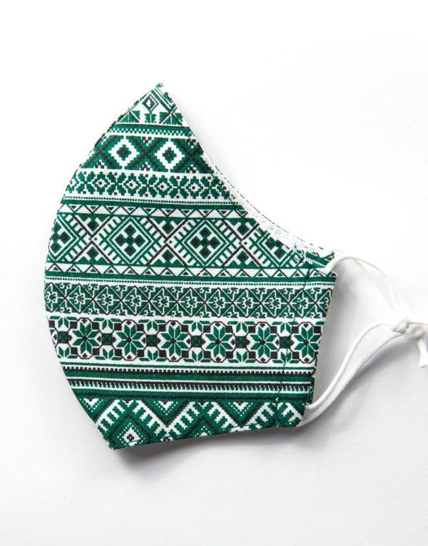 Bavlnené rúško Zelený vzor 1