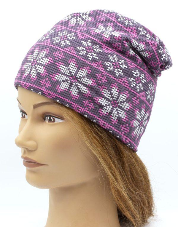 Čiapka pletený vzor winter