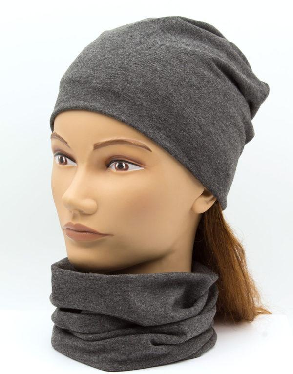 Nákrčník s čiapkou Grey