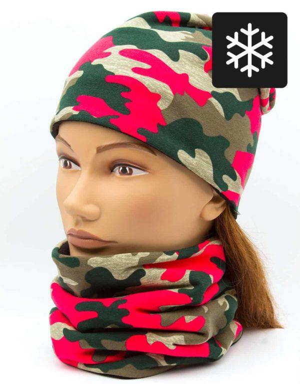 Winter Nákrčník s čiapkou Maskáč 1