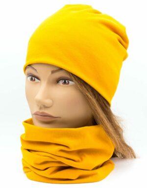 Nákrčník s čiapkou Mustard