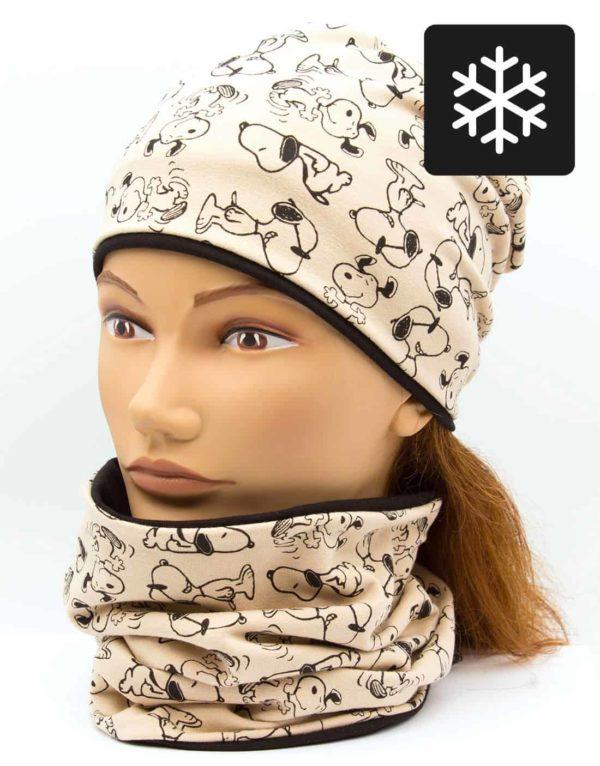 Winter Nákrčník s čiapkou Snoopy 1
