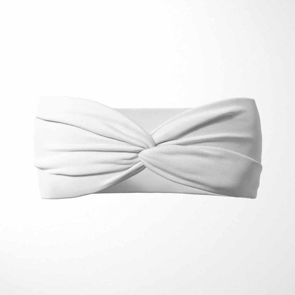 Bavlnená čelenka Biela 1