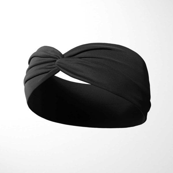 Bavlnená čelenka Čierna 2
