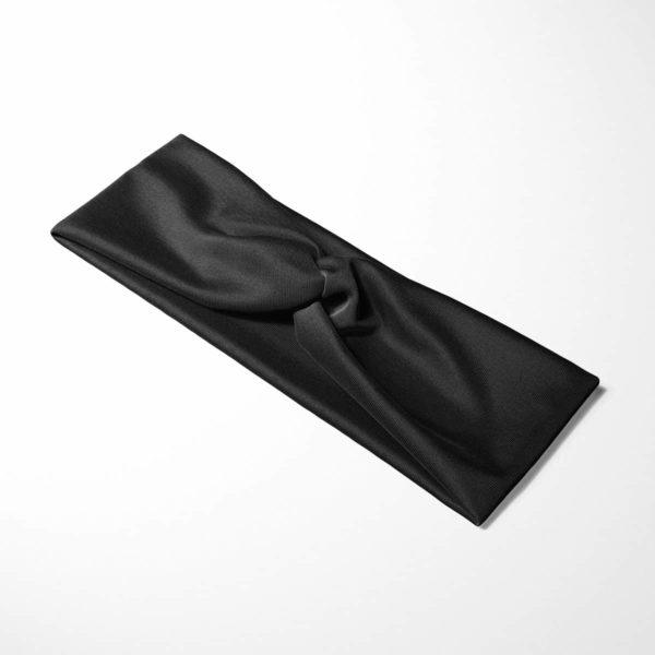 Bavlnená čelenka Čierna 4