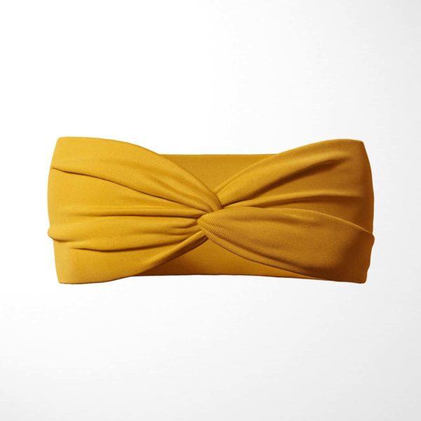 Bavlnená čelenka Mustard 1