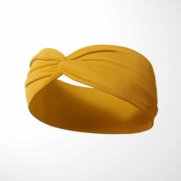 Bavlnená čelenka Mustard 2
