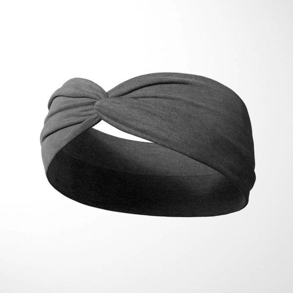 Bavlnená čelenka Sivá 2