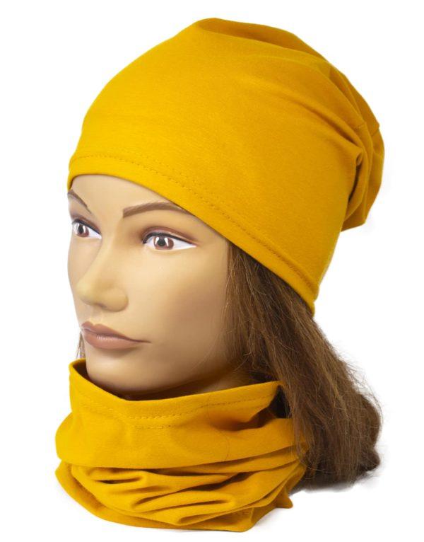 Jednovrstvový Nákrčník s čiapkou Mustard | Spring 1