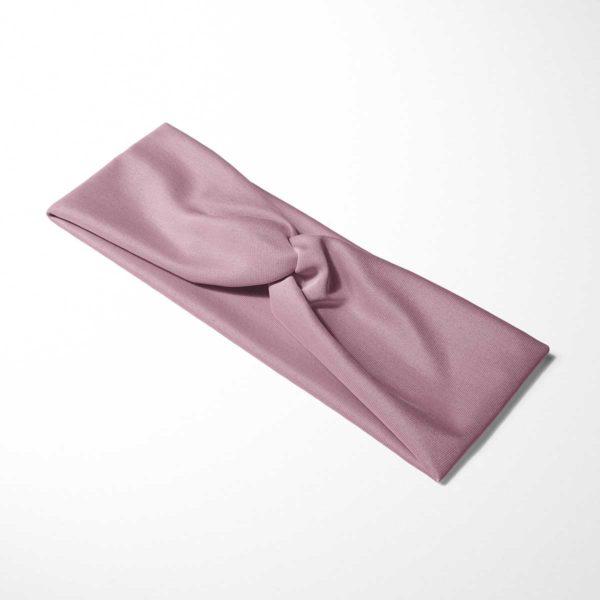Bavlnená čelenka Ružová 3