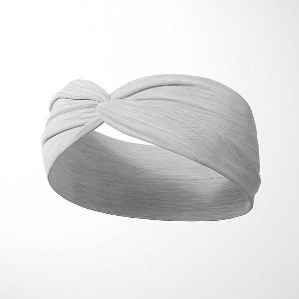 Bavlnená čelenka Svetlosivá 2