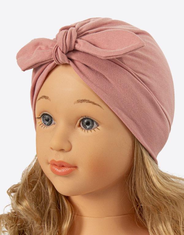 bavlnená čiapka turban - ružová