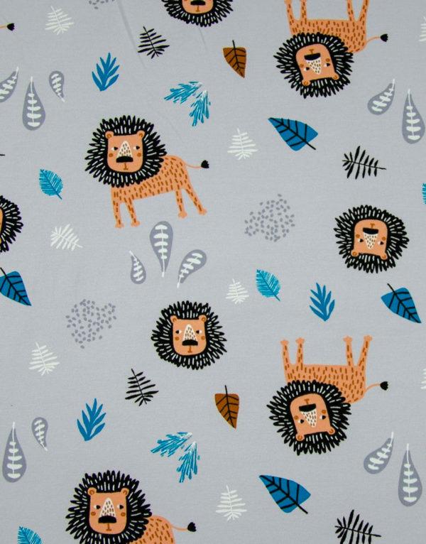Bavlnená šatka Sivá - Levíky 2