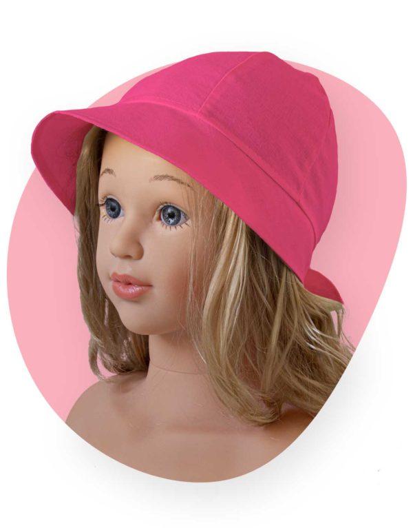 bavlnený klobuk lady fuchsia