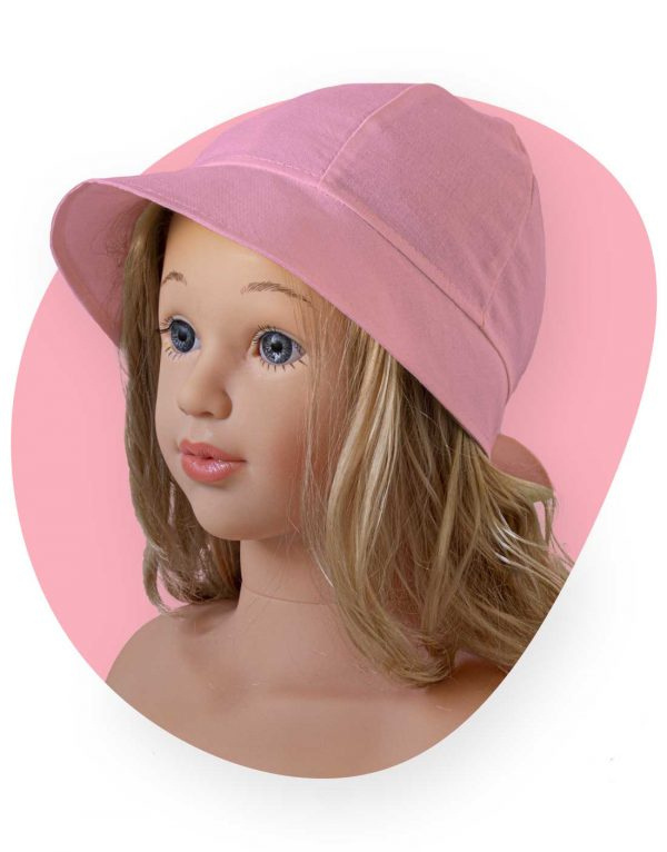 bavlnený klobuk lady pink