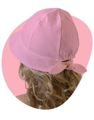 bavlnený klobúk lady pink