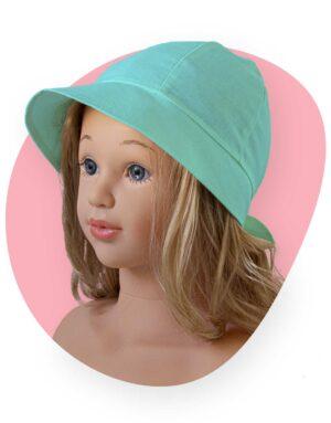 bavlnený klobúk lady tyrkys