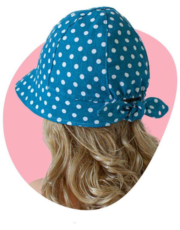 bavlneny klobuk lady dots