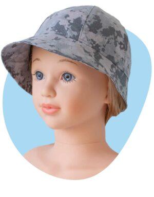 bavlneny klobuk sivy maskac
