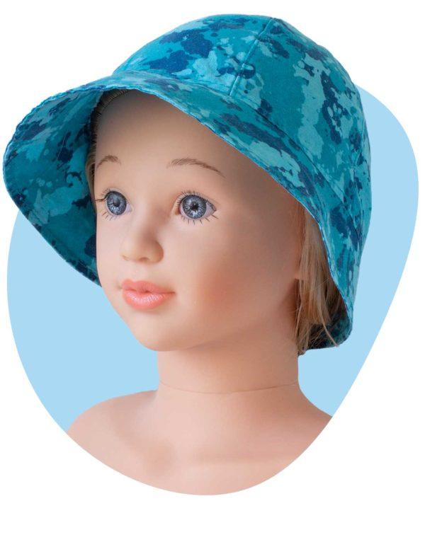 bavlneny klobuk tyrkys maskac