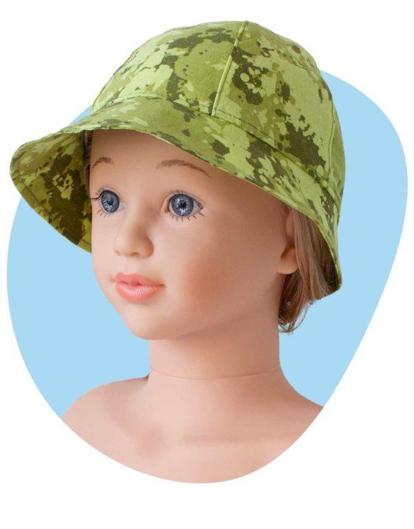 bavlneny klobuk zeleny maskac