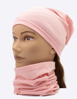 Set čiapka a nákrčník Pinky