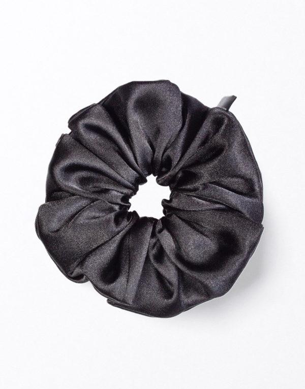 Scrunchies Gumička do vlasov Čierna